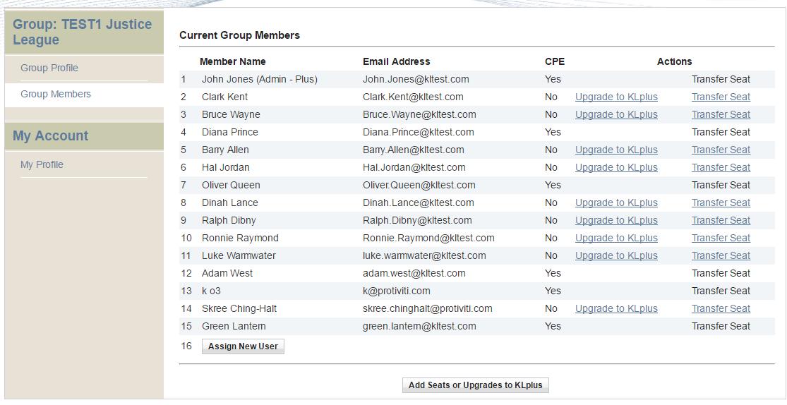 Screenshot of Admin Area